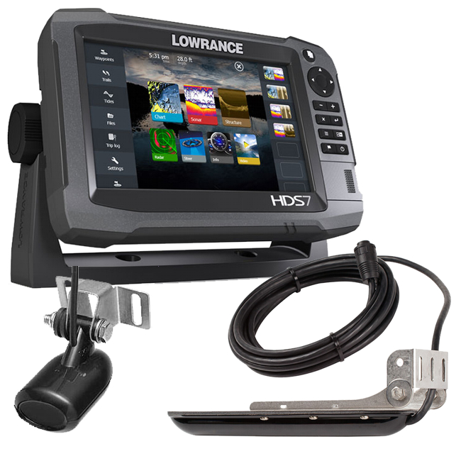 Lowrance HDS-7 GEN3 Plotter Sounder with 83/200/LSS Structure Scan TR
