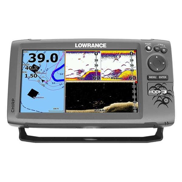 Lowrance Hook-9 Fishfinder / Chart Plotter With Mid/High / DownScan TM Transducer