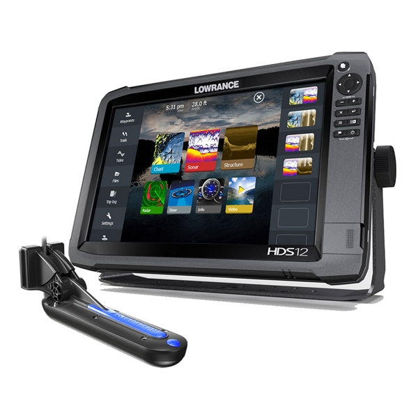 Lowrance HDS-12 Gen3 ROW with Mid/High and 3D Transducer Bundle
