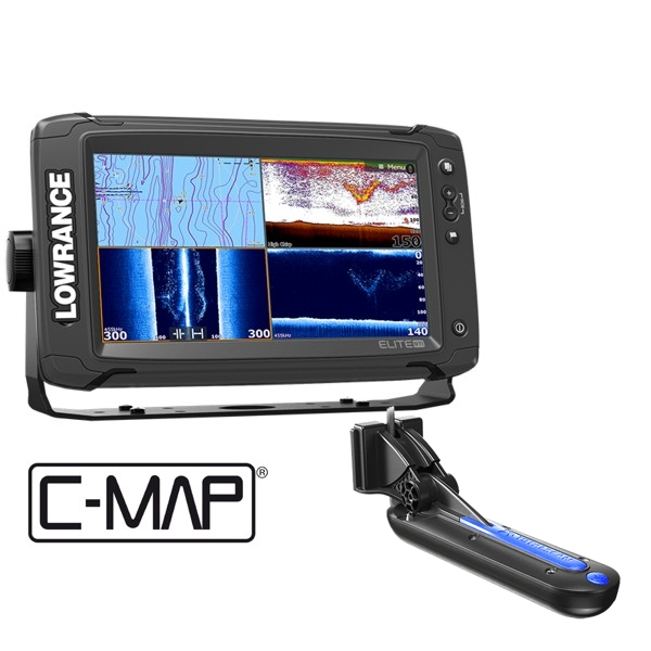 Lowrance Elite-9 Ti Fishfinder/Chartplotter with TotalScan™ Transducer and C-MAP South Europe Card