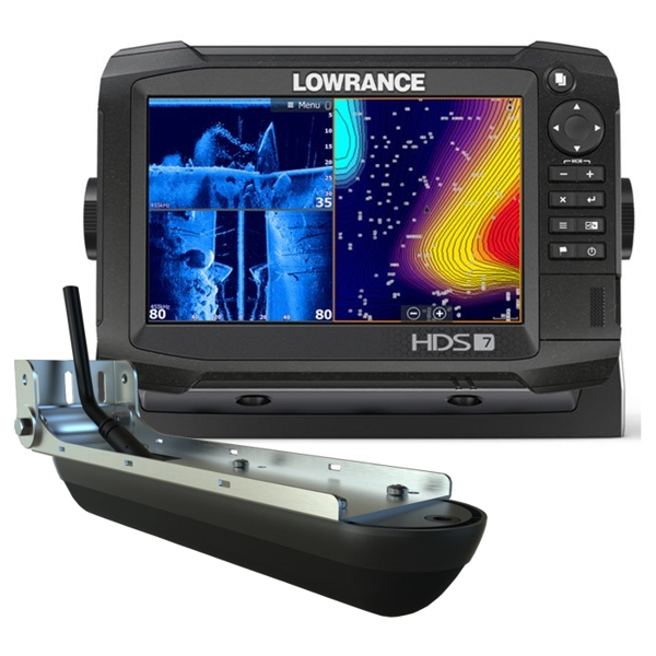 Lowrance HDS-7 Carbon ROW with Med/High/StructureScan 3D Transducer Bundle