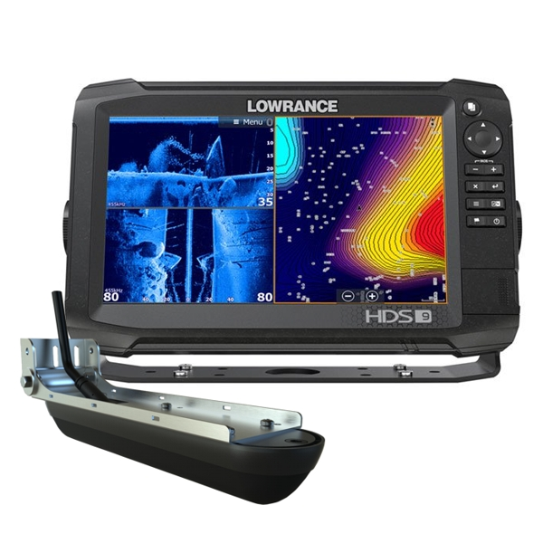Lowrance HDS-9 Carbon ROW with Med/High/StructureScan 3D Transducer Bundle