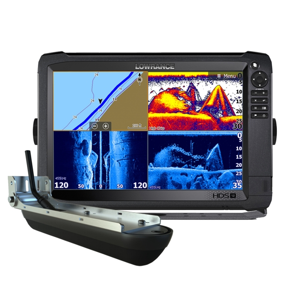 Lowrance HDS-12 Carbon ROW with Med/High/StructureScan 3D Transducer Bundle