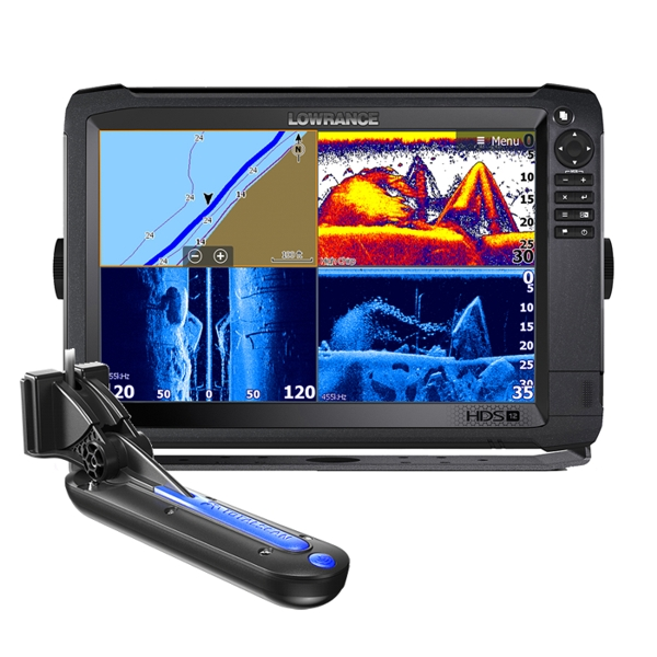 Lowrance HDS-12 Carbon ROW with Med/High/TotalScan Transducer Bundle