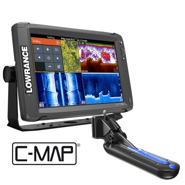Lowrance Elite-12 Ti Fishfinder/Chartplotter with TotalScan™ Transducer and C-MAP North Europe Card