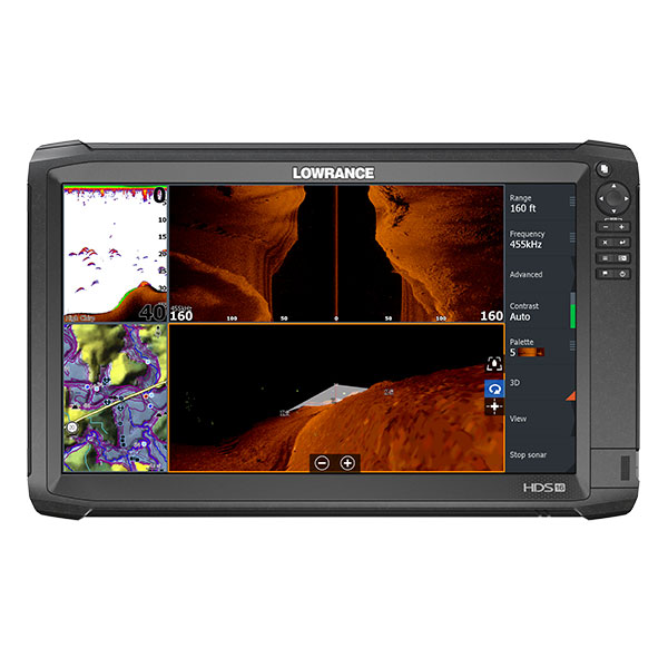 Lowrance HDS-16 Carbon ROW with StructureScan 3D Transducer Bundle
