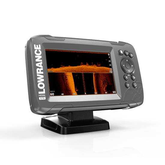 Lowrance HOOK 2-5 5 Inch Chart / Fishfinder With Triple Shot TR (Down & Side Scan)