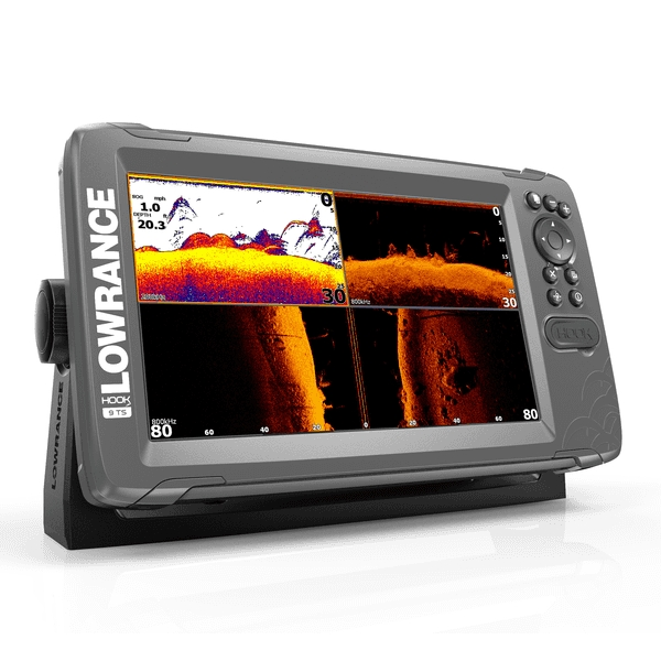 Lowrance HOOK 2-9 9 Inch Chart / Fishfinder With Triple Shot TR (Down & Side Scan)