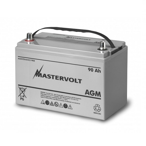 batteries mastervolt agm battery 12v 90ah 62000900. Black Bedroom Furniture Sets. Home Design Ideas
