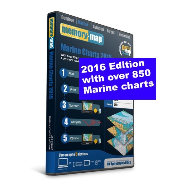 Memory Map Marine Charts - UK & Ireland - 2016 (DVD)