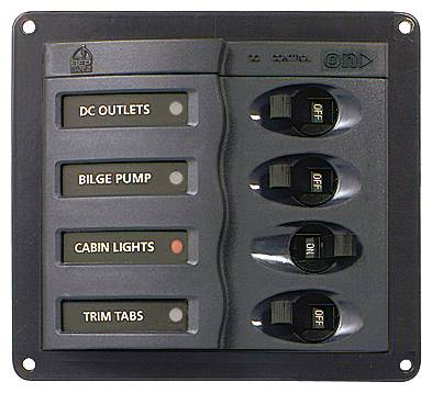 BEP 4 WAY DC CIRCUIT BREAKER PANEL