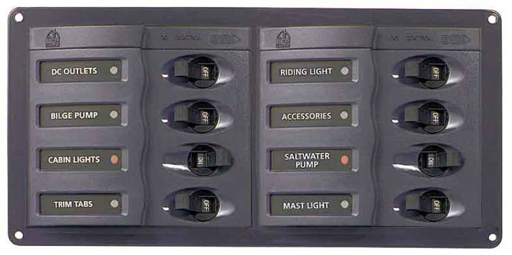 BEP 8 WAY DC CIRCUIT BREAKER PANEL HORIZONTAL