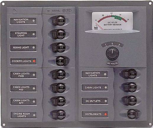 BEP 12 WAY DC CIRCUIT BREAKER PANEL VERTICAL