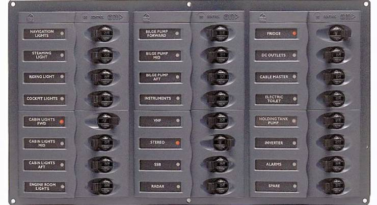 BEP 24 WAY DC CIRCUIT BREAKER PANEL VERTICAL