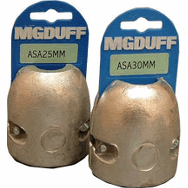 MG Duff ASA40mm Aluminium Shaft Anode Insert To Suit Dia 40mm