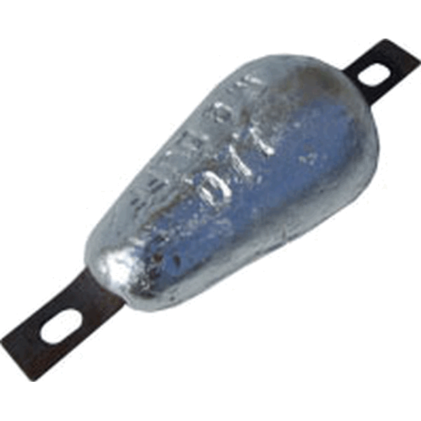 MG Duff AD77 Aluminium Hull Anode 1Kg Bolt/Weld on 200mm Bolt Centre