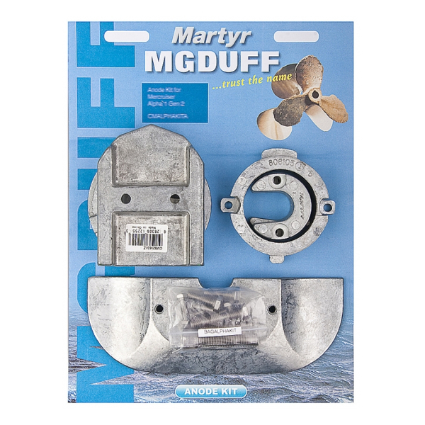 MG Duff Mercruiser Alpha 1 Gen 2 Zinc Anode Kit
