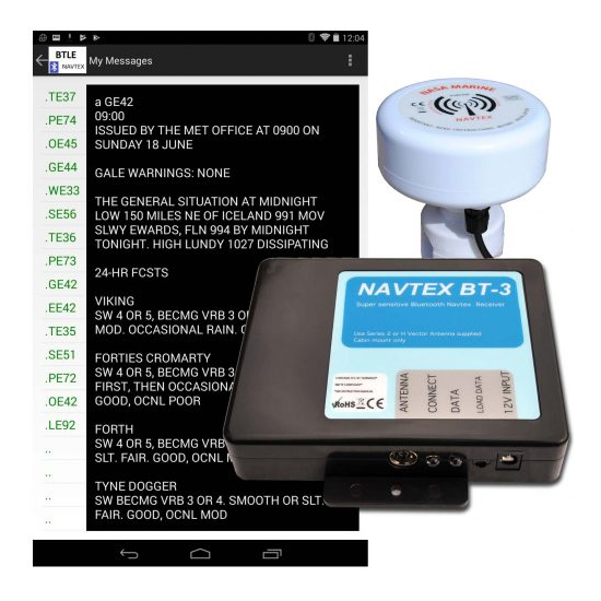 Nasa BT3 Bluetooth Navtex Receiver With H Vector Antenna