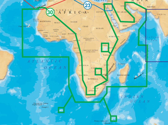 Navionics Gold XL9 CF Format 30X Africa And Middle East