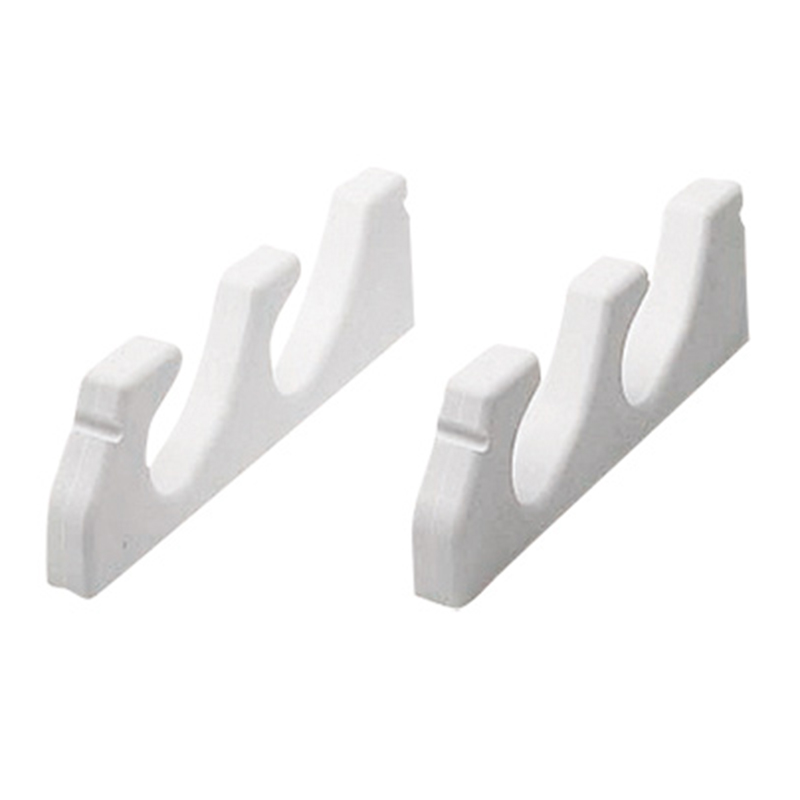 Nuova Rade Storage Rack (pair) For 3 Fishing Rods. White