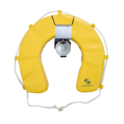 Ocean Safety Horseshoe Buoy Set with Apollo Compact Light - Yellow