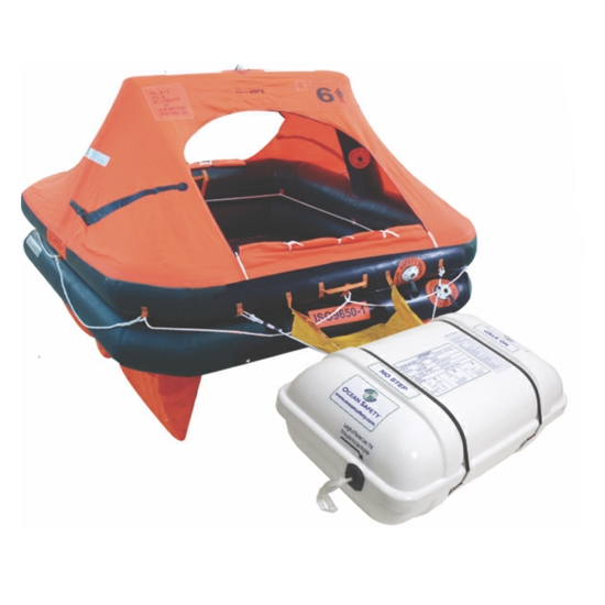Ocean Safety Charter ISO9650-1 6 Man Canister Liferaft
