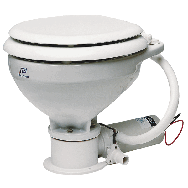 Plastimo Electric Toilet 12V Wooden Seat White Painted