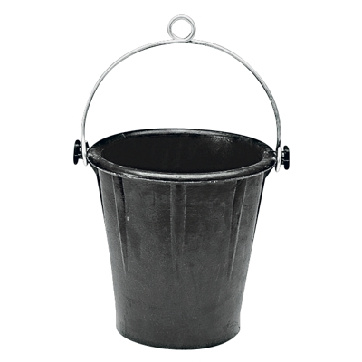 RUBBER BUCKET ALUMINIUM HANDLE