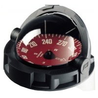 Plastimo Olympic 135 Compass Black - Red Card No Binnacle