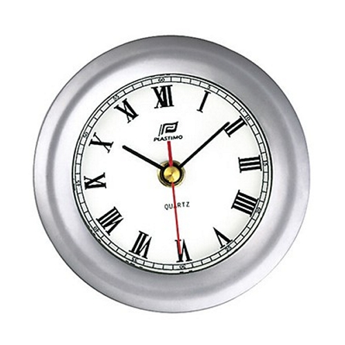 Plastimo Clock Matt Chrome 4inch