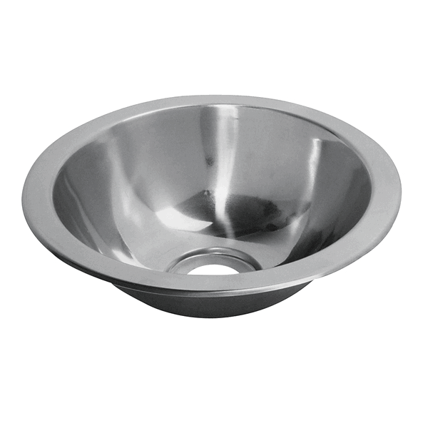 Plastimo S/S Round Sink + Bung Dia 300 x 145mm