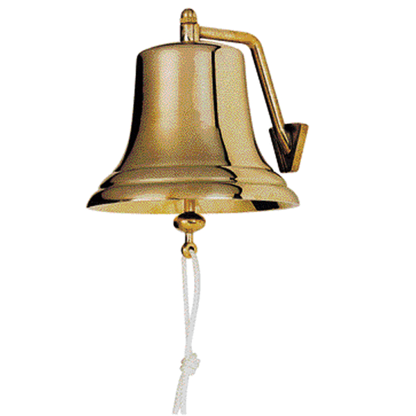 BELL POLISHED BRASS 300MM RANGE 75M