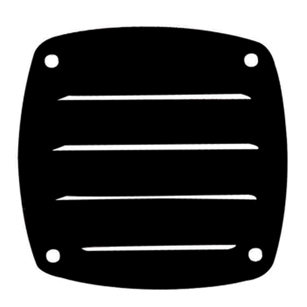 Plastimo Vent Black 84 x 84mm