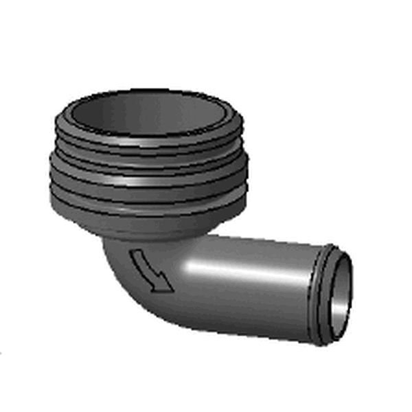 ANGLED NOZZLE + GASKET FOR PU