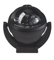 Plastimo Offshore 95 Compass Black with Flat Card. Bracket Mount