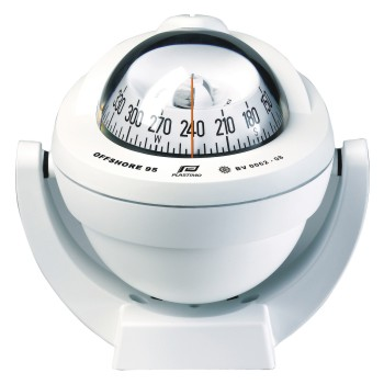 Plastimo Offshore 95 Compass White with Conical Card. Bracket Mount