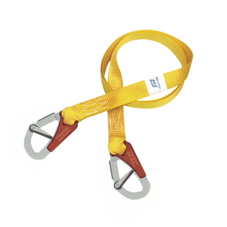 Tether Line 2M, 2 Double Action Safety Hooks