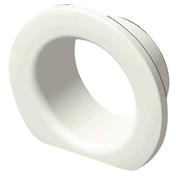 FLANGE FOR SCUPPER COMPACT PLAIN WHITE