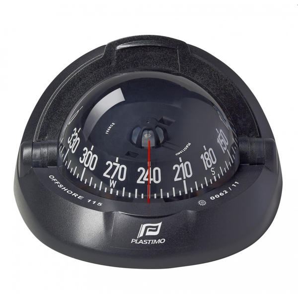 Plastimo Offshore 115 Compass Black with Black Conical Card