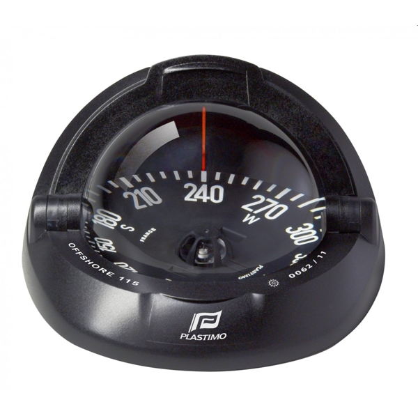Plastimo Offshore 115 Compass Black with Black Flat Card