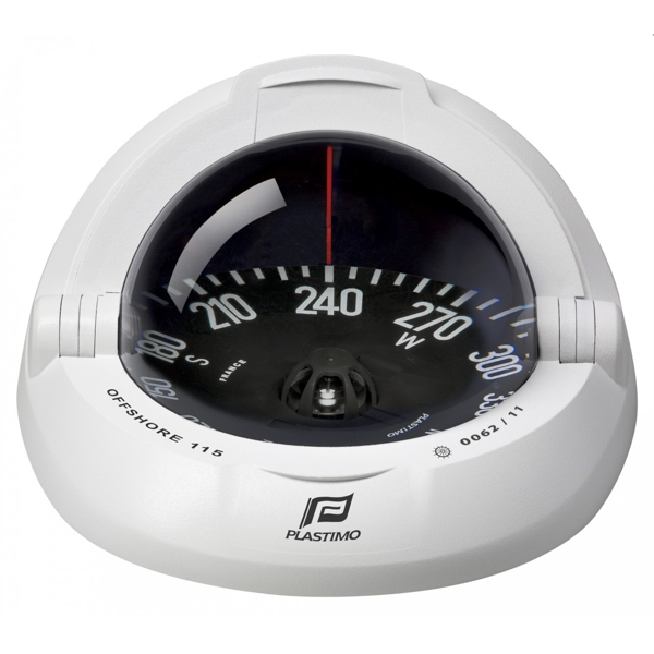 Plastimo Offshore 115 Compass White with Black Flat Card