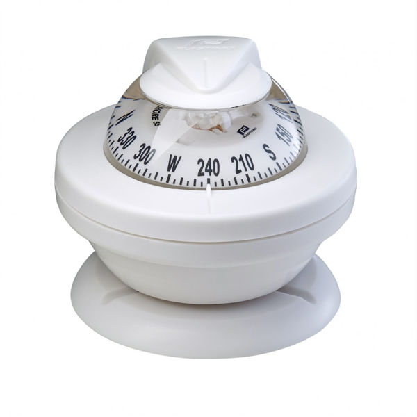 Plastimo Offshore 55 Compass - White Card & White Flange