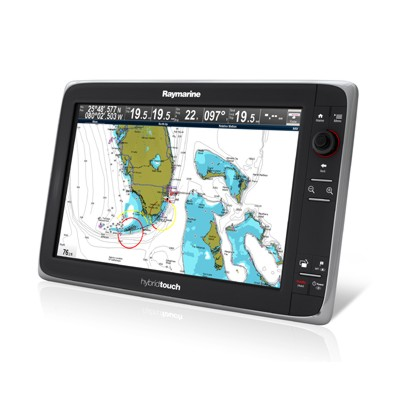 Raymarine E165 Hybrid Touch Plotter-sounder With Eu Chart