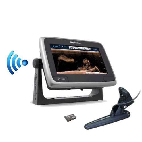 Raymarine A78 7 Inch Touchscreen Mfd C/w Downvision Fishfinder & Wi-fi & Cpt100 Tm Txd � Eu/row Small Gold Download Chart