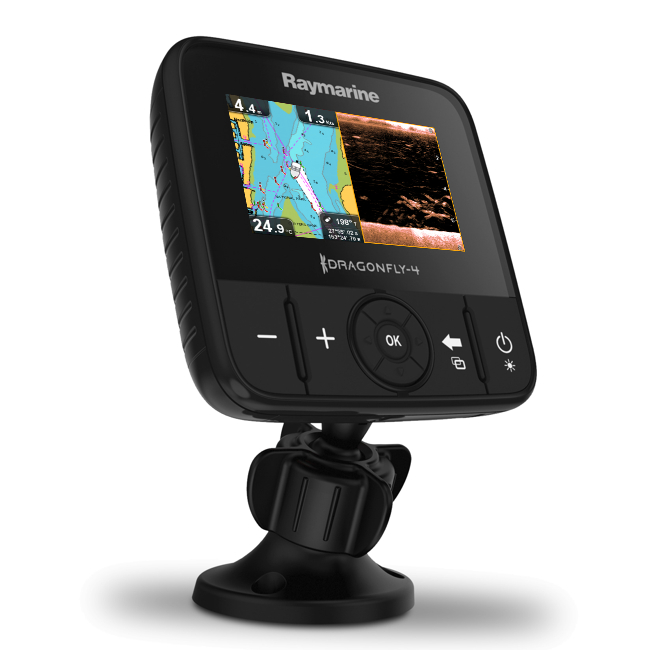 Raymarine Dragonfly 4 PRO 4 Inch Chart Plotter/ DownVision / Chirp Sonar With European Charts & TM TR