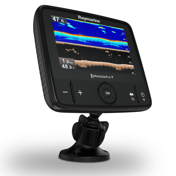 Raymarine Dragonfly 7 Pro 7 Inch Sonar GPS with Down Vision Inc CPT-DVS Transducer and C-Map Essentials Chart