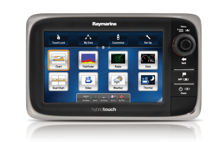 Raymarine E7 Hybrid Multi Touch MFD (With EU Embedded Chart)