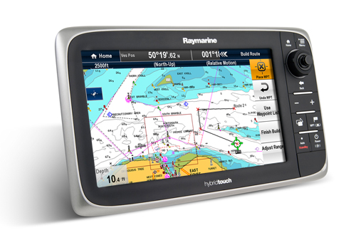 RAYMARINE E125 HYBRID TOUCH PLOTTER - WITH EU CARTOGRAPHY