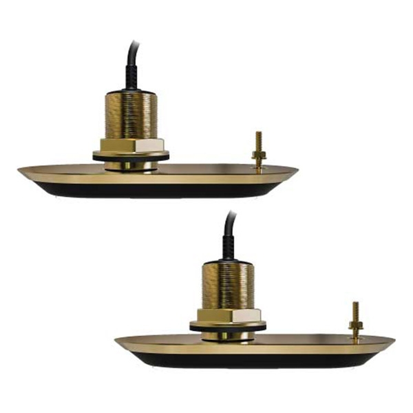 Raymarine RV-220 RealVision Thru-Hull Bronze 20Deg 3D Port & Starboard Pair of Transducers (10m Cable)