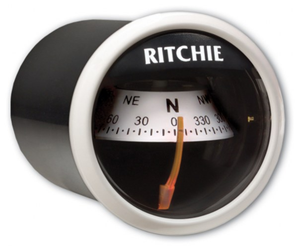 "Ritchie ""RitchieSport® X-21, 2"" Dial Dash Mount - White"""